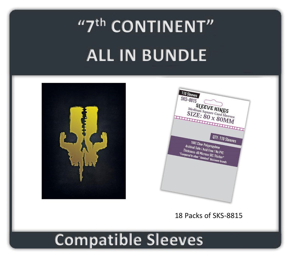 """7th Continent All In"" Compatible Sleeve Bundle (8815 X 18)"