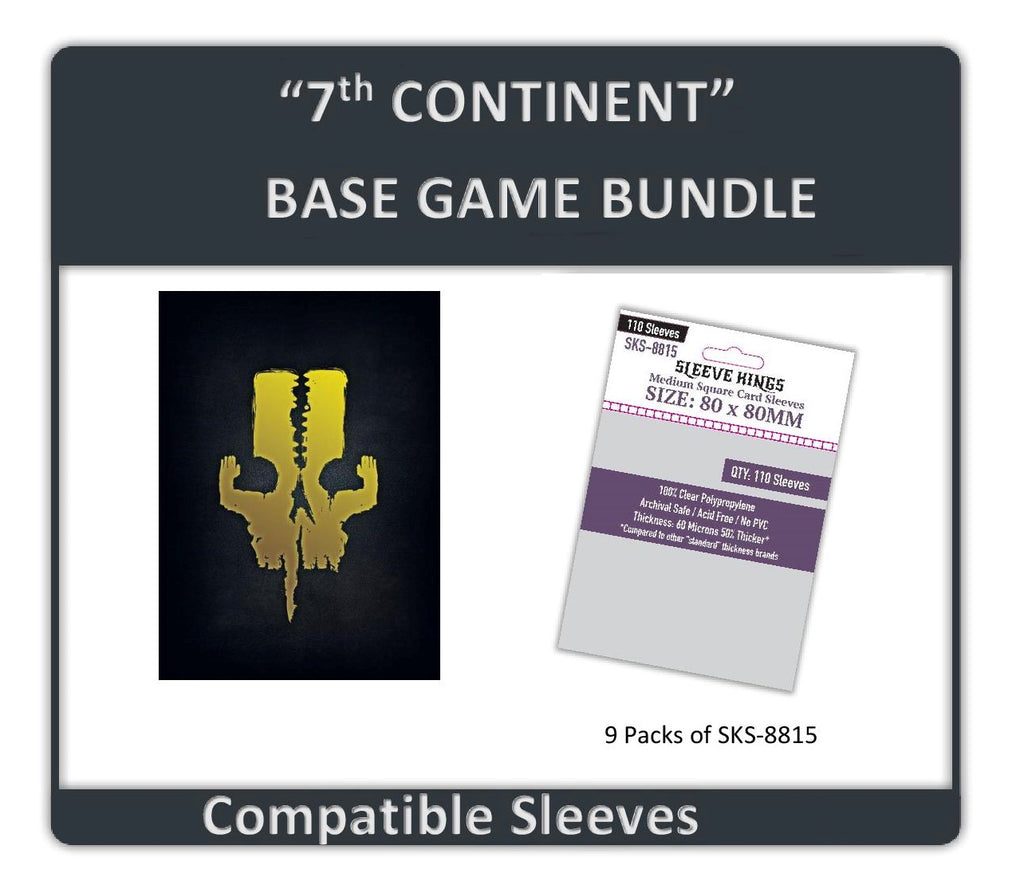 """7th Continent Base Game"" Compatible Sleeve Bundle (8815 X 9)"