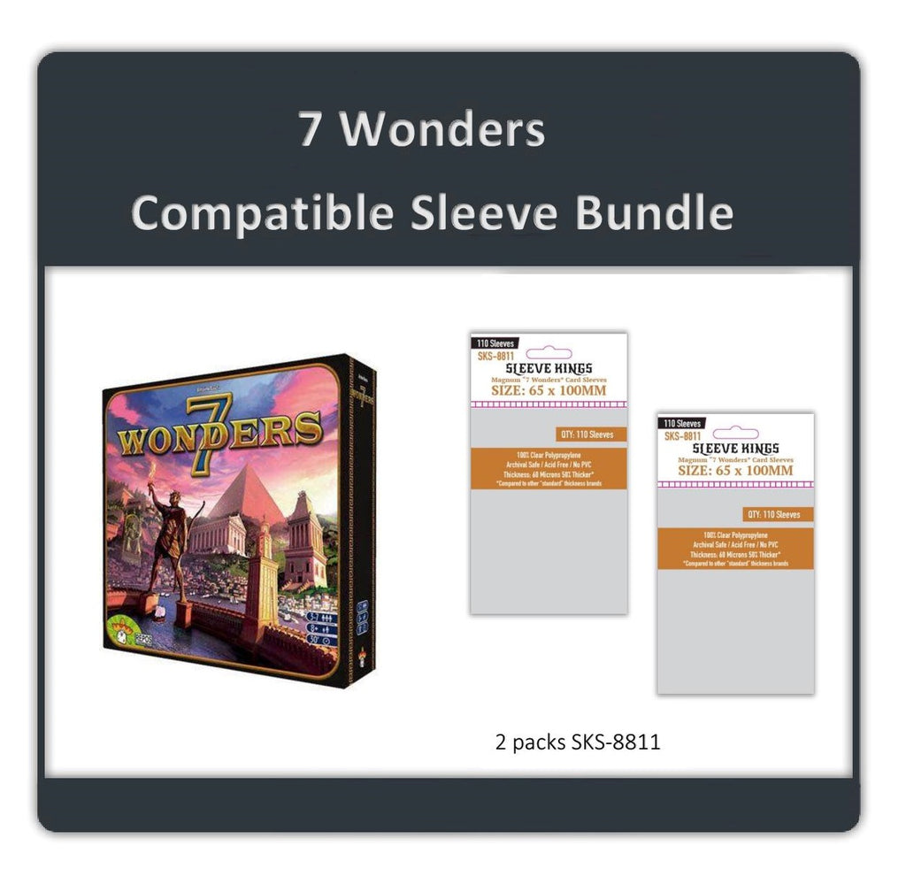 """7 Wonders"" Compatible Sleeve Bundle (8811 X 2)"