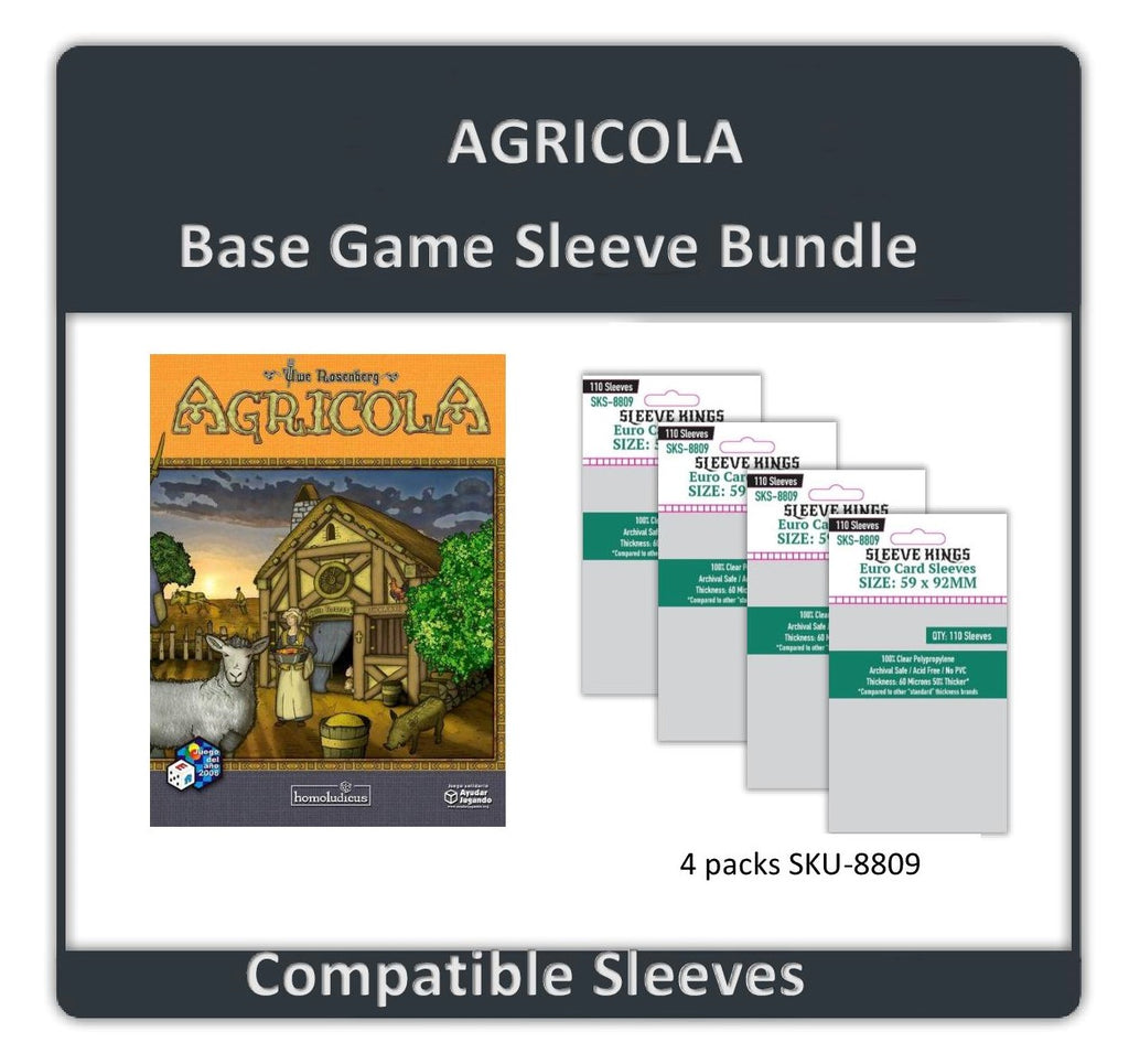 """Agricola Base Game"" Compatible Sleeve Bundle (8809 X 4)"
