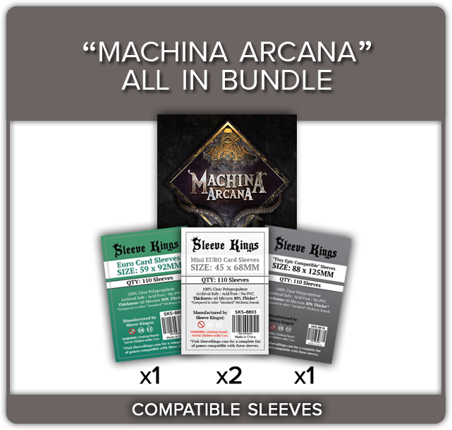 """Machina Arcana All In"" Compatible Sleeve Bundle (8809 X 1 + 8803 X 2 + 8818 X 1)"
