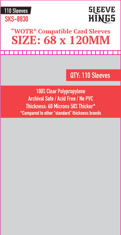 """WOTR Perfect Compatible"" Sleeves (68x120mm) - 110 Pack, SKS-8830"