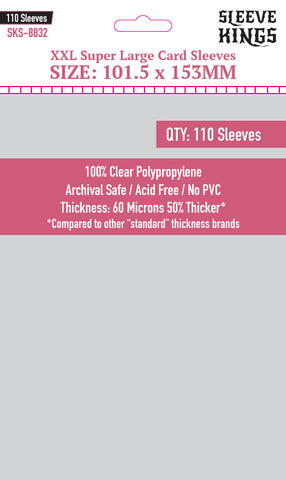 """XXL Super Large"" Sleeves (101.5x153mm) - 110 Pack, SKS-8832"