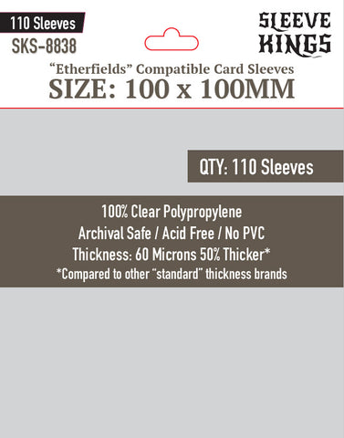 """Etherfields Compatible"" Sleeves (100 X 100 MM) - 110 Pack, SKS-8838"