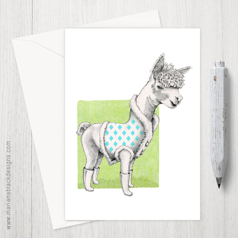 Alpaca Eco-Friendly Greeting Card