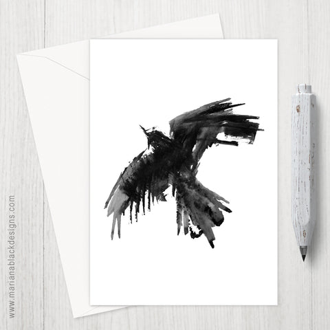 Raven Flight Eco-Friendly Greeting Card