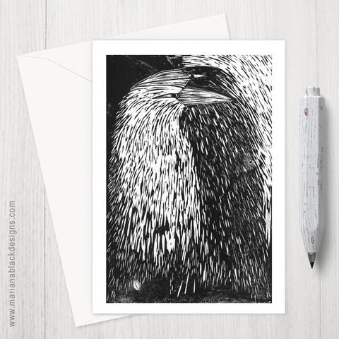 Raven Shadow Eco-Friendly Greeting Card