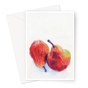 Two Red Pears Eco-friendly Greeting Card