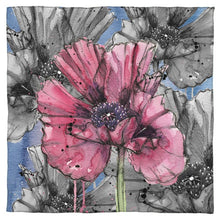 Load image into Gallery viewer, Inky Poppy Blue Scarf