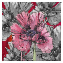 Load image into Gallery viewer, Inky Poppy Red Scarf