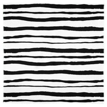 Load image into Gallery viewer, Watercolour Black and White Stripes Scarf