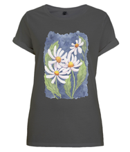 Load image into Gallery viewer, Darling Daisies Organic Rolled Sleeve T-Shirt
