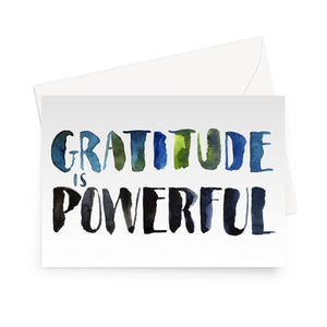 Gratitude is Powerful Eco-friendly Greeting Card