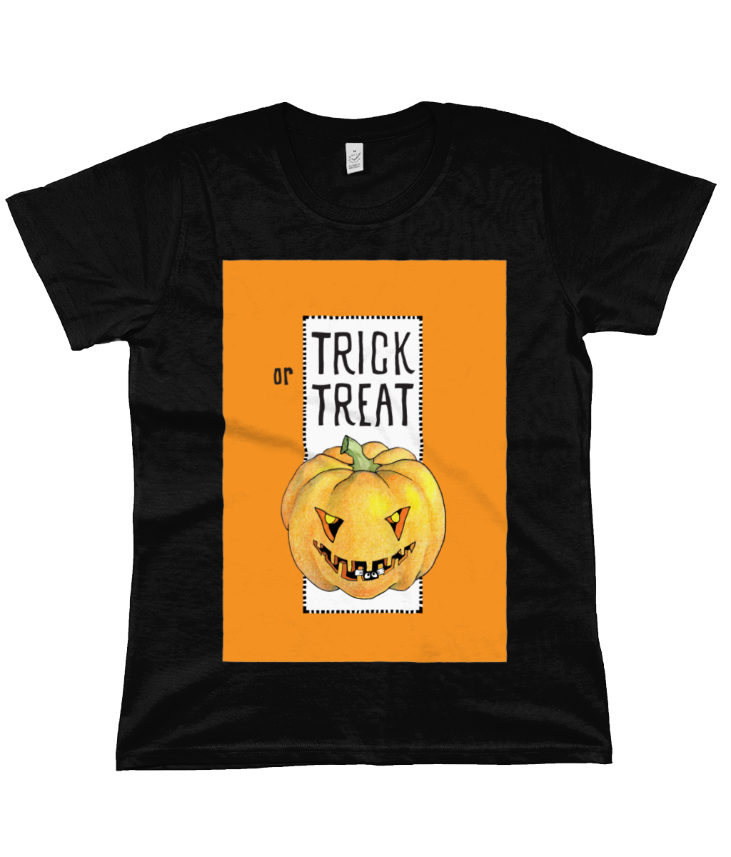 Trick or Treat Pumpkin Halloween Organic Classic Jersey T-Shirt