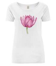 Load image into Gallery viewer, Lovely Lotus Pink Organic Open Neck T-Shirt