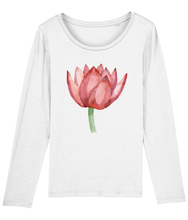 Load image into Gallery viewer, Lovely Lotus Orange Organic Long-Sleeve T-shirt