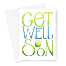 Load image into Gallery viewer, Get Well Soon Apple Eco-friendly Greeting Card