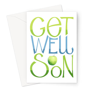 Get Well Soon Apple Eco-friendly Greeting Card