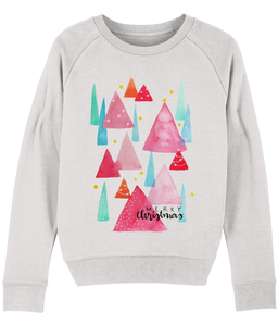 Merry Christmas Trees Organic Sweatshirt
