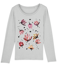 Load image into Gallery viewer, Dancing Lotus Flowers Organic Long-Sleeve T-shirt