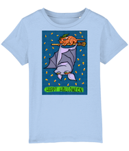 Load image into Gallery viewer, Grouchy Bat Cat Halloween Organic Mini Creator Children's T-shirt