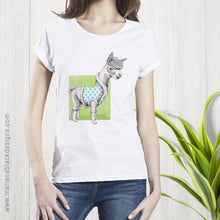 Load image into Gallery viewer, Alpaca Organic Rolled Sleeve T-Shirt