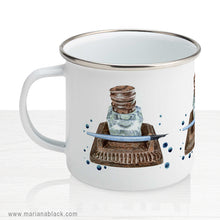 Load image into Gallery viewer, Antique Inkwell Enamel Mug