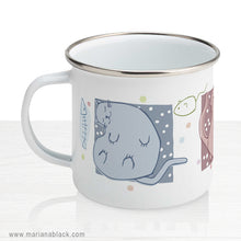 Load image into Gallery viewer, Blobby Cats 1 Enamel Mug