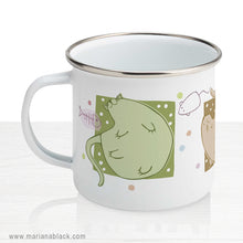 Load image into Gallery viewer, Blobby Cats 2 Enamel Mug