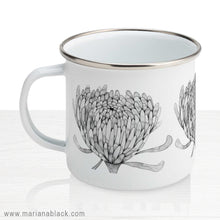 Load image into Gallery viewer, Chrysanthemum Crowd Enamel Mug