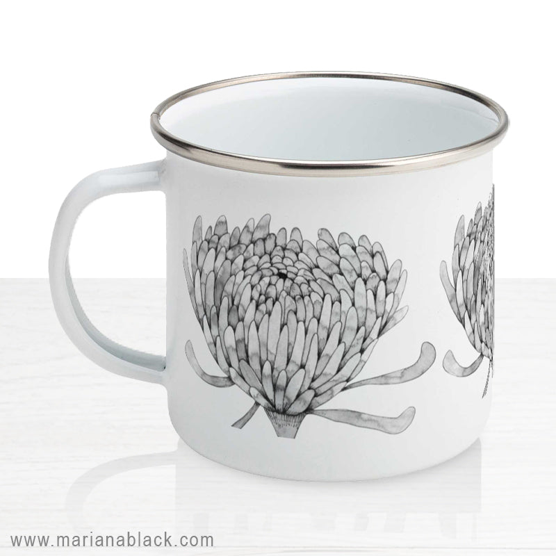 Chrysanthemum Crowd Enamel Mug