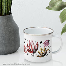Load image into Gallery viewer, Dancing Lotus Flowers Enamel Mug