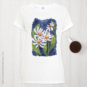 Darling Daisies Organic Rolled Sleeve T-Shirt