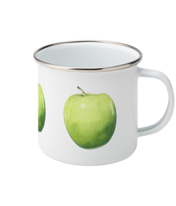 Green Apple Enamel Mug