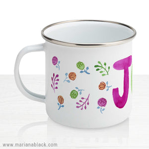 Joy Enamel Mug