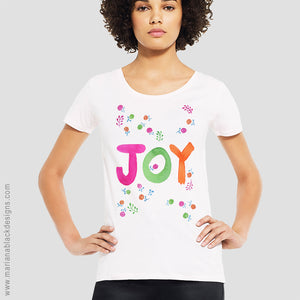 Joy Organic Open Neck T-Shirt