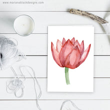 Load image into Gallery viewer, Lovely Lotus Orange Eco-Friendly Greeting Card