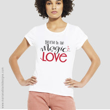 Load image into Gallery viewer, Magic of Love Organic Rolled Sleeve T-Shirt