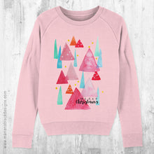 Load image into Gallery viewer, Merry Christmas Trees Organic Sweatshirt