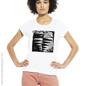 Raven Embrace Organic Rolled Sleeve T-Shirt