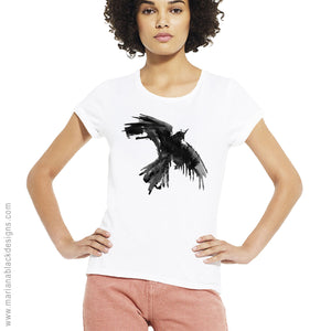 Raven Flight Organic Rolled Sleeve T-Shirt