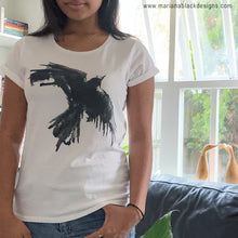 Load image into Gallery viewer, Raven Flight Organic Rolled Sleeve T-Shirt