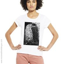 Load image into Gallery viewer, Raven Shadow Organic Rolled Sleeve T-Shirt