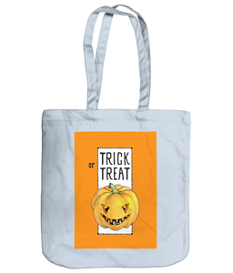Trick or Treat Halloween Pumpkin Organic Spring Tote