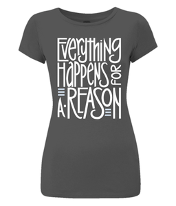 Everything Happens White Organic Slim-Fit Jersey T-Shirt