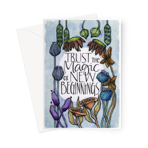 New Beginnings Eco-friendly Greeting Card