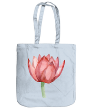 Load image into Gallery viewer, Lovely Lotus Orange Organic Spring Tote