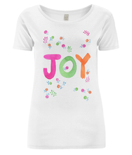 Load image into Gallery viewer, Joy Organic Open Neck T-Shirt