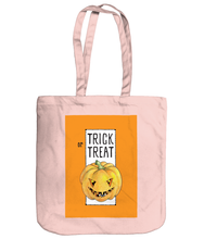 Load image into Gallery viewer, Trick or Treat Halloween Pumpkin Organic Spring Tote