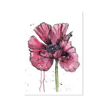 Load image into Gallery viewer, Inky Poppy Fine Art Print